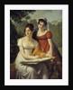Portrait of the Demoiselles Duval by Jacques Augustin Pajou