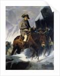 Portrait of Napoleon Bonaparte crossing the Saint Bernard in 1800 by Paul Delaroche
