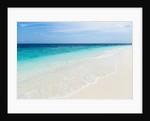 Idyllic beach in the Maldives by Corbis