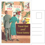 Couple Eying Posters, Travel Well and Safely by Corbis