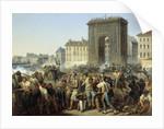 Fight at the Porte Saint Denis, 28 July 1830 by Hippolyte Lecomte