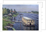 Boathouse in Argenteuil by Gustave Caillebotte