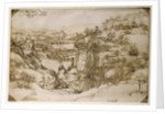 Arno Landscape by Leonardo da Vinci
