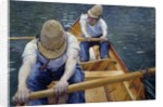 The Boatmen on the Yerres by Gustave Caillebotte