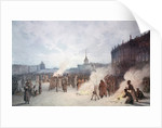 Tsar Nicholas I and his soldiers during the Decembrists' revolt by Corbis