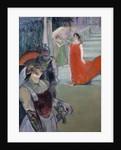 Messalina descending the staircase by Henri de Toulouse Lautrec