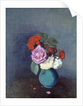 Flowers - Bouquet of carnations by Odilon Redon