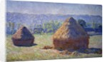Haystacks, end of the summer - by Claude Monet