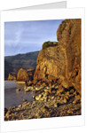 Evening light on basalt cliffs by Corbis