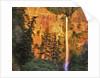 Evening light on Multnomah Falls by Corbis