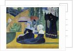 Breton women with umbrellas by Emile Bernard
