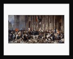 Lamartine rejecting the red flag at the Hotel de Ville, Paris, 1848 by Corbis