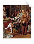 Francis I receiving a painting of the Holy Family by Raphael by Anicet-Gabriel Lemonnier