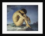 Nude Youth Sitting by the Sea by Hippolyte Flandrin