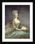 Portrait of Marie Antoinette, Queen of France - by Francois Hubert Drouais