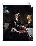 Portrait of Marie Antoinette in deep mourning in prison by Anne Flore Millet