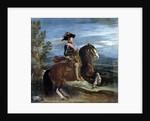 Equestrian portrait of King Philip IV - by Diego Velasquez