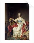 Portrait of Madame Du Barry by Francois-Hubert Drouais