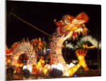 Illuminated Chinese Dragon on New Year's Eve, Hong Kong, China by Corbis