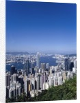 Skyline of Hong Kong seen from Victoria Peak, China by Corbis