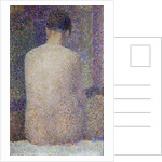 Model, Back View by Georges Seurat