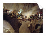 The passage of the Devil's Bridge at Saint Gothard col by Johann Baptist Seele