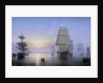 Boston Harbor at Sunset by Fitz Hugh Lane