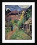 A street in Tahiti by Paul Gauguin