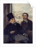 Self-portrait with the painter Evariste de Valernes by Edgar Degas