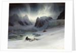 Magdalena Bay, Aurora Borealis effect by Francois Auguste Biard