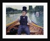 Rower in a Top Hat by Gustave Caillebotte