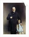 Portrait of Louis Pasteur with his grand-daughter by Leon Bonnat