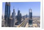 Dubai cityscape on Sheikh Zayed Road by Corbis