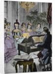 Christoph Willibald Gluck before the queen Marie-Antoinette by Corbis