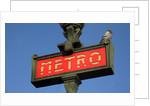 Metro Sign Paris by Corbis
