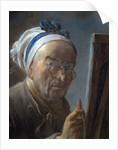 Self Portrait with an Easel by Jean-Baptiste-Simeon Chardin