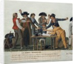 The Republican oath being signed in blood oath by Lesueur brothers