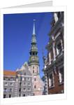 Town Hall Square, Blackheads House, St. Peter's Church, Riga, Latvia by Corbis