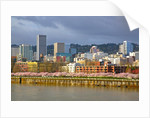 storm over portland and Willamette River, Portland, Oregon by Corbis