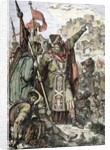 Attila shows to his soldiers the city of Aquileia before the destruction 452 by Corbis