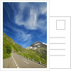 Mountain impression at Susten Pass with cirrus cloud by Corbis