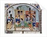 Trade scene in a silverware shop - 15th cent. Illumination by Corbis