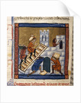 Construction of Rome - miniature 13th cent. by Corbis