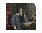 Galileo Galilei and his Telescope - engraving 1864 by Corbis
