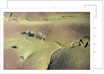 Aerial view of a dried up stream in Santa Ynez, California by Corbis