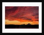 Midnight Sun Lights Clouds, Hudson Bay, Nunavut Territory, Canada by Corbis