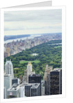 Central Park from above, New York City by Corbis