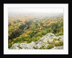 A view from the summit peak of the Big Carp River in autumn at Porcupine Mountains Wilderness State by Corbis