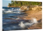 Small waterfall along the edge of Miner's beach at Lake Superior in Pictured Rocks National Seashore by Corbis