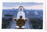 Viewing Telescope atop Eiffel Tower, Paris, France by Corbis